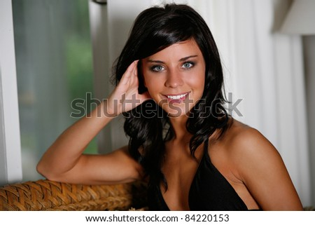 Beautiful and fit young woman - stock photo
