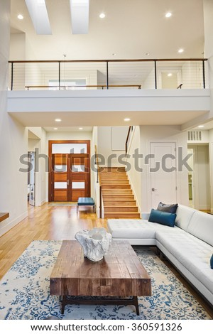 Second floor stock images royalty free images vectors for Open floor plans with vaulted ceilings