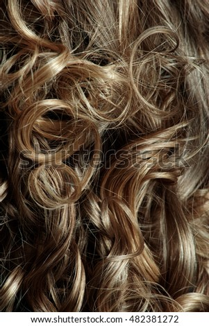Beautiful and long curly hairs