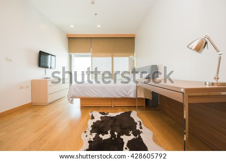 Beautiful and modern home and hotel bedroom - stock photo