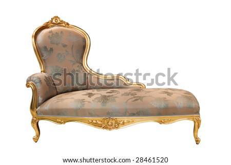 beautiful and rich couch on white background - stock photo