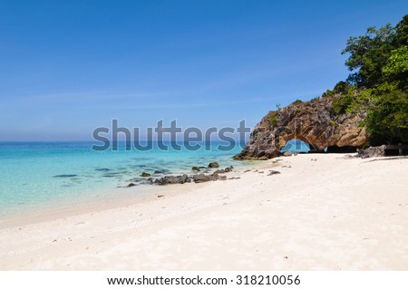 Beautiful Andaman sea at Koh Khai Island in Stun, Thailand