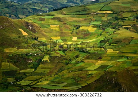 Beautiful andean city of Canar in Azogues Ecuador South America - stock photo
