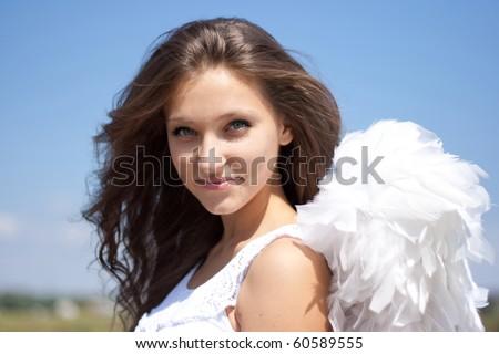 Beautiful angel girl