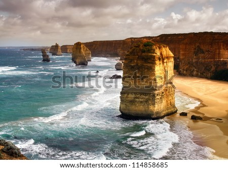 beautiful 12 apostles in Australia