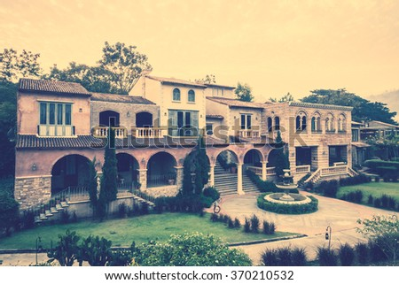 Beautiful Architecture and Building italy style - Vintage Filter