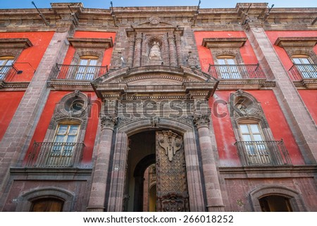 Beautiful architecture in San Miguel de Allende town - Mexico - stock photo