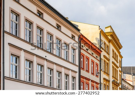 Beautiful architecture in the Old town of Krakow, Poland - stock photo