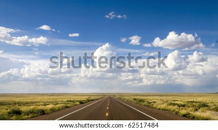 Beautiful area along the historic Route 66 in Arizona - stock photo