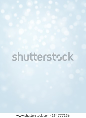 Beautiful arrangement of soft lights to make perfect snowy background or wallpaper - stock photo