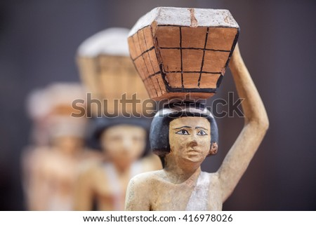 beautiful art statuette form ancient egypt - stock photo