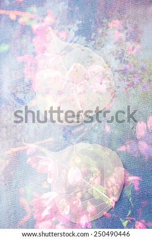 Beautiful, artistic, floral background, grungy style - stock photo
