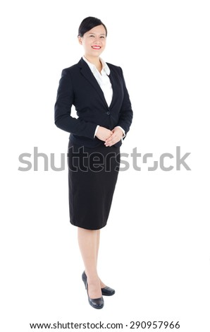 Beautiful asian customer service representative - stock photo