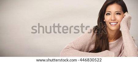 Beautiful asian girl. - stock photo