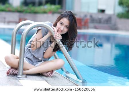 Beautiful asian woman portrait  - stock photo