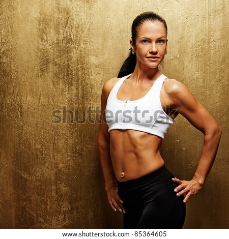 Beautiful athletic woman. - stock photo