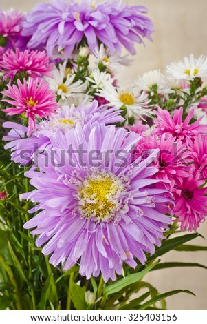 Beautiful autumn bouquet of flowers