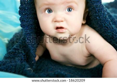Beautiful Baby Boy - stock photo