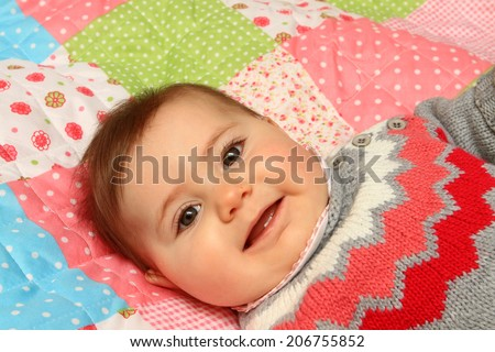beautiful baby girl - stock photo