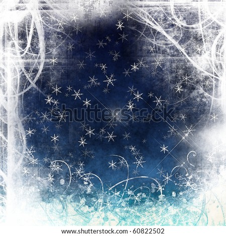 Beautiful background Christmas (New Year) . grunge christmas card - stock photo