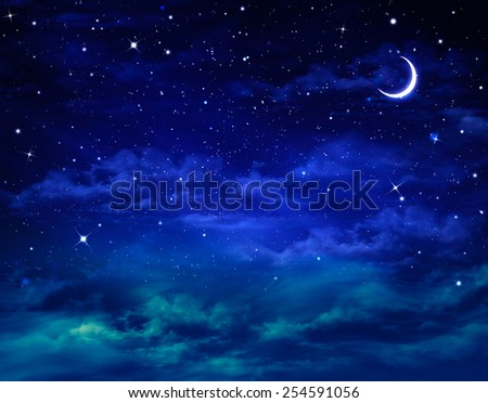 beautiful background, nightly sky - stock photo