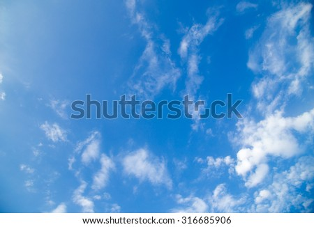 beautiful background of clouds in the sky - stock photo