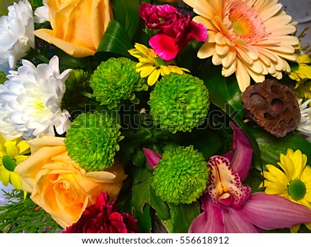 Beautiful background of flowers created for wedding and festive background