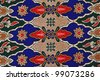 Beautiful batik patterns that become traditional clothes malaysia - stock photo