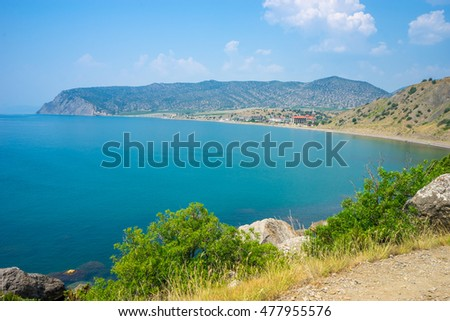 Beautiful bay near Veseloe in Crimea