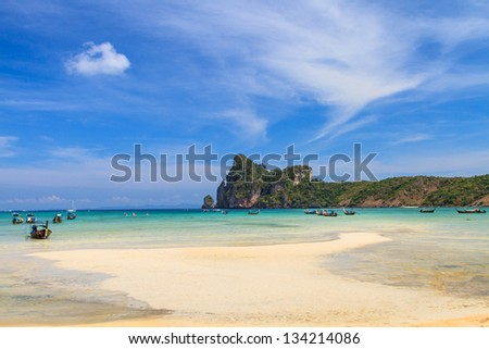 Beautiful bay of Koh Phi Phi island at day time, Thailand