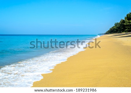 beautiful beach and blue sky  in Summer