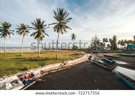 Beautiful Beach and Traditional Boat