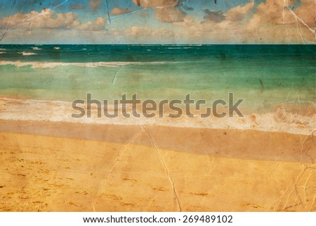 beautiful beach and tropical sea, Pacific Ocean water with waves. Sea shore with sand on Maui Hawaii. Sunshine background. - stock photo