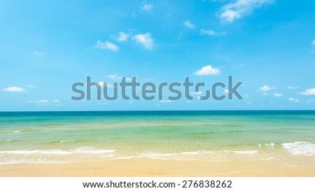 Beautiful beach at Koh Chang island ,Thailand - stock photo