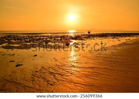 Beautiful Beach at Sunrise