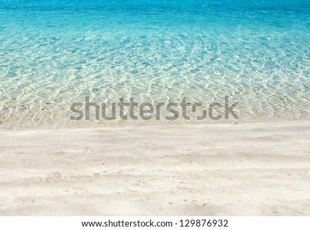 Beautiful Beach, Dubai, UAE - stock photo