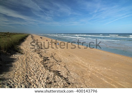 Beautiful Beach in Canaveral National Seashore in Cape Canaveral, Florida