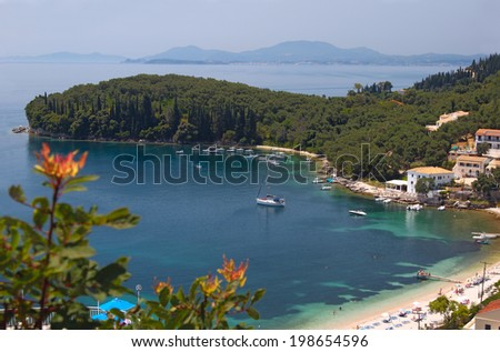 Beautiful beach in Corfu, Greece - stock photo