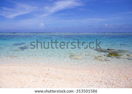 Beautiful Beach in Miyako Island, Okinawa, Japan