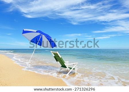 Beautiful beach in Okinawa - stock photo
