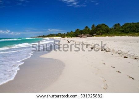 beautiful beach in varadero, cuba