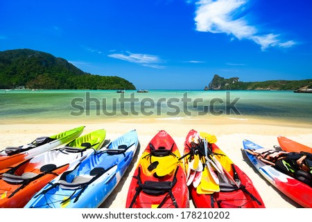 Beautiful beach landscape in Thailand - stock photo