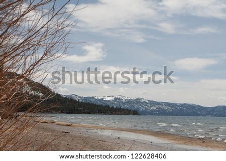 Beautiful beach landscape of Lake Tahoe - stock photo