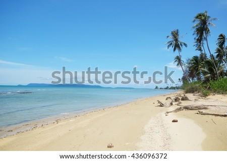 beautiful beaches in Thailand - stock photo