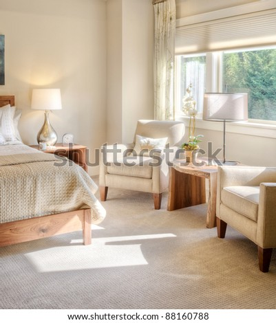 Beautiful Bedroom Detail - stock photo