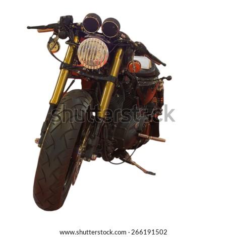 Beautiful big motorcycle on a white background - stock photo