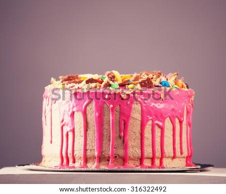 Big Chocolate Cake Stock Images RoyaltyFree Images Vectors