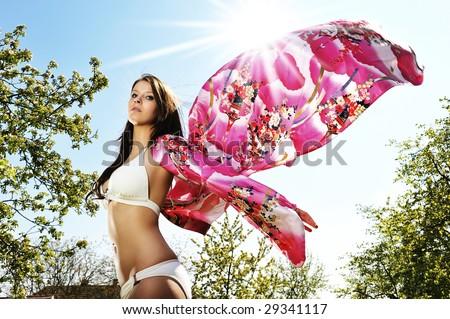 beautiful bikini butterfly - stock photo