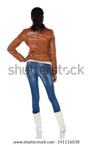 beautiful black african young adult woman stock photo