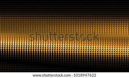 Beautiful black background with golden glitter. 3d illustration, 3d rendering.